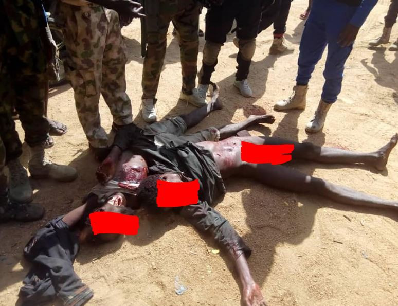 Graphic Photo:? Troops neutralise two Boko Haram?terrorists In Borno State