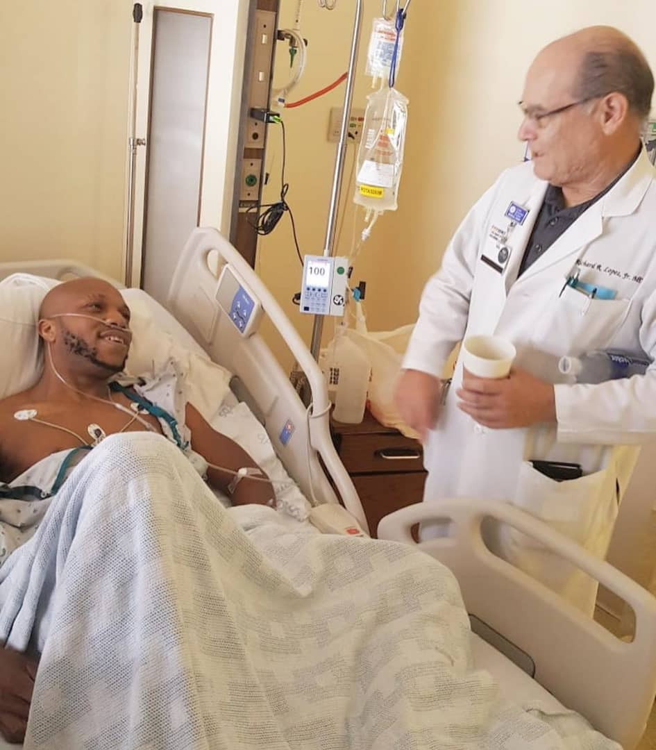Actor Charles Okocha rushed to the theater for a quick surgery after falling ill suddenly in the US (photos)