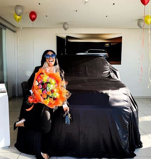 SA TV personality, Boity Thulo?gifts herself a brand new Range Rover Lumma?(Photos)