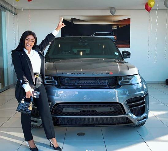SA TV personality, Boity Thulo?gifts herself a brand new Range Rover Lumma?(Photos)