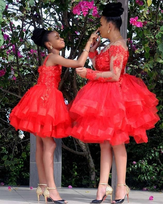 Ibinabo Fiberesima twinning with her daughter, Zino, in new photos
