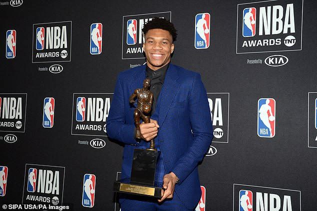 Greek-Based Nigerian NBA star, Giannis Antetokounmpo cries tears of joy as he