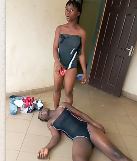 Teenage girl reacts horribly after consuming drugs in Abuja (video)