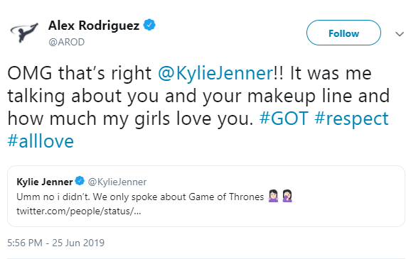"Kylie Jenner sets the record straight after Alex Rodriguez claimed all Kylie talked about at the Met Gala was ""how rich she is"""