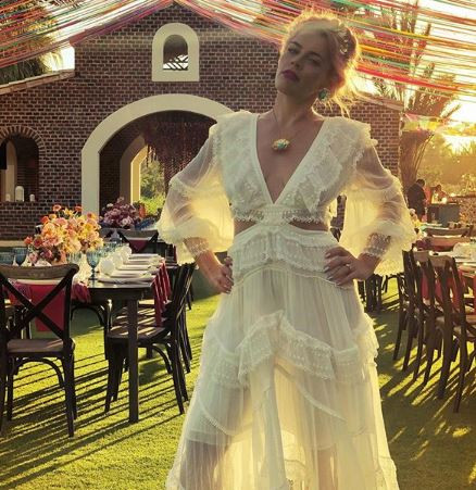 Image result for images of Busy Philipps marries herself in a lavish destination wedding to celebrate her 40th birthday
