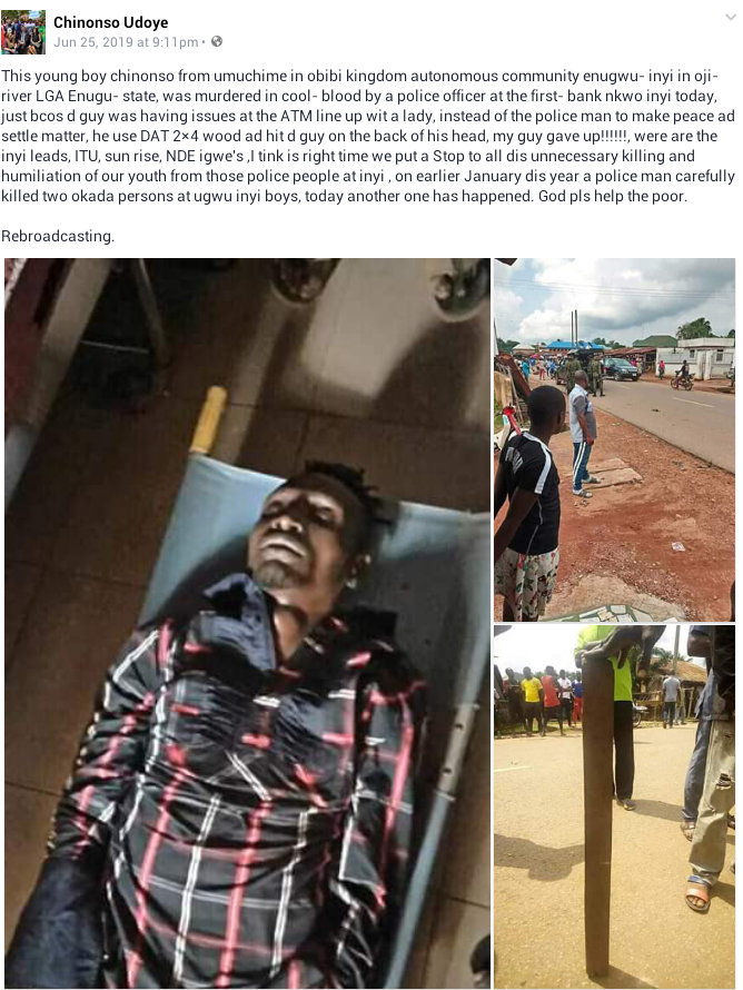 Photos: Police officer allegedly kills young man over