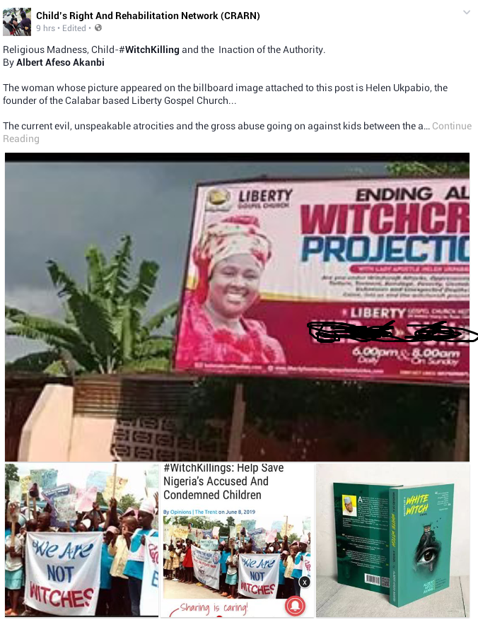Nigerian author accuses Prophet Helen Ukpabio of causing the torture, violent deaths of children accused of witchcraft