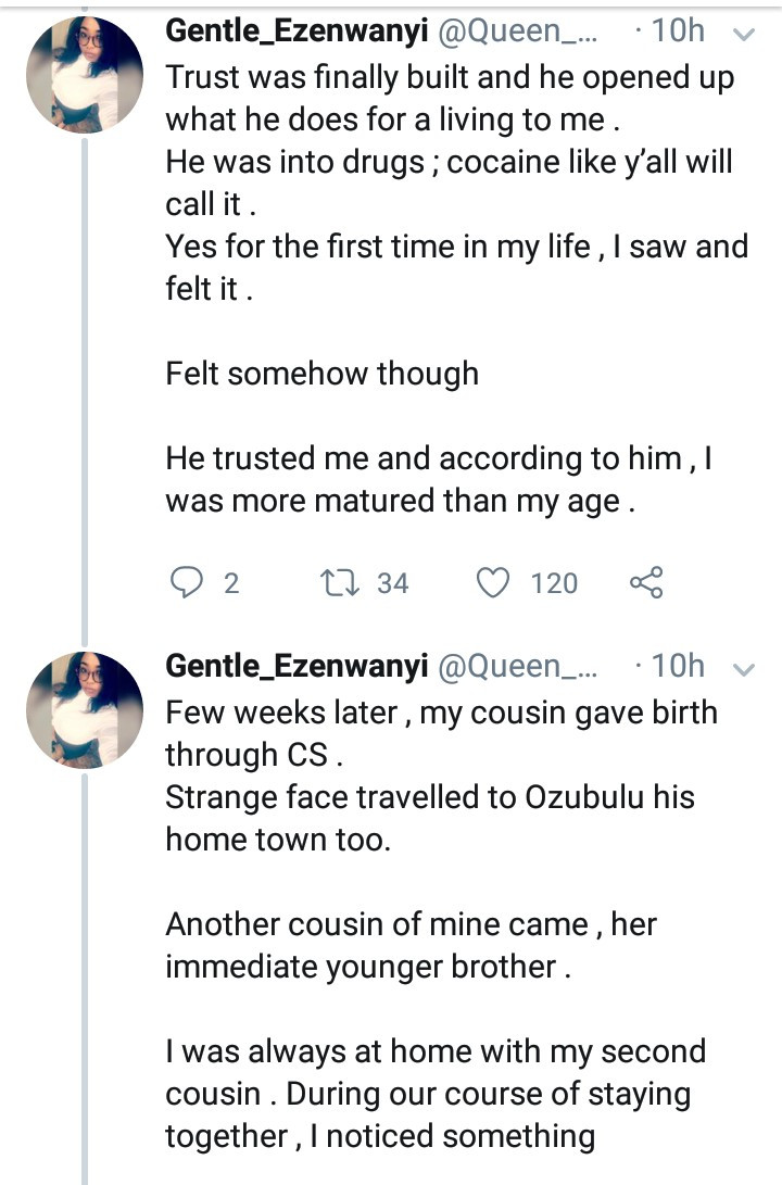 Woman recalls being raped by her cousin years ago after she woke up today to a WhatsApp message from same cousin