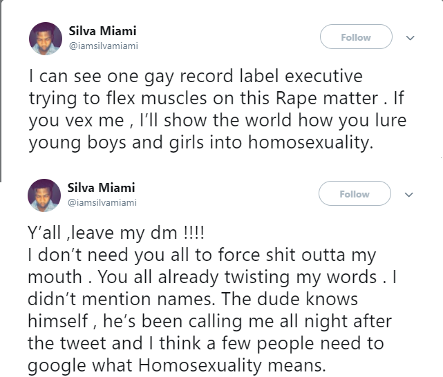 Music producer threatens to expose a Nigerian gay record label executive who lures young boys and girls into homosexuality (Screenshot)