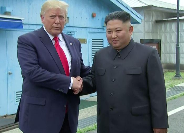 President Trump makes historic visit to North Korea