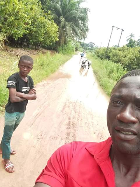 Photos: 14-year old boy found trekking from Imo State to his hometown in Abia State after running away from his abusive madam