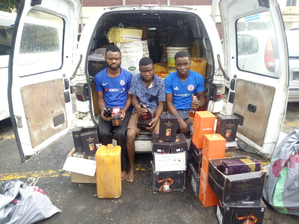 Three suspects arrested for producing fake and adulterated drinks in Lagos