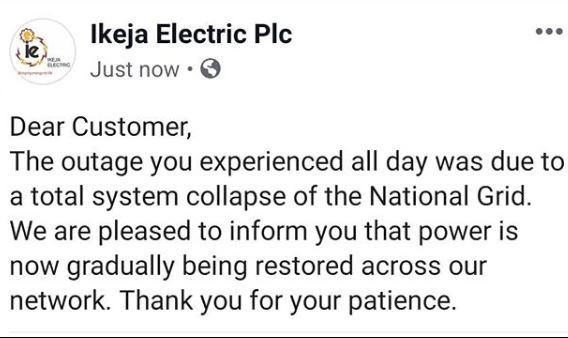 Nationwide blackout?as national power grid suffers total collapse
