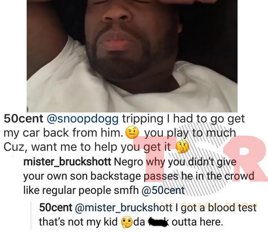 50 cent disowns his own son on social media, says