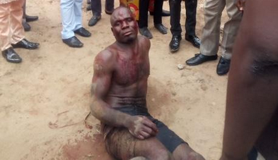 Photo: Thief nabbed in Benue after carting away offering money at Dunamis Church