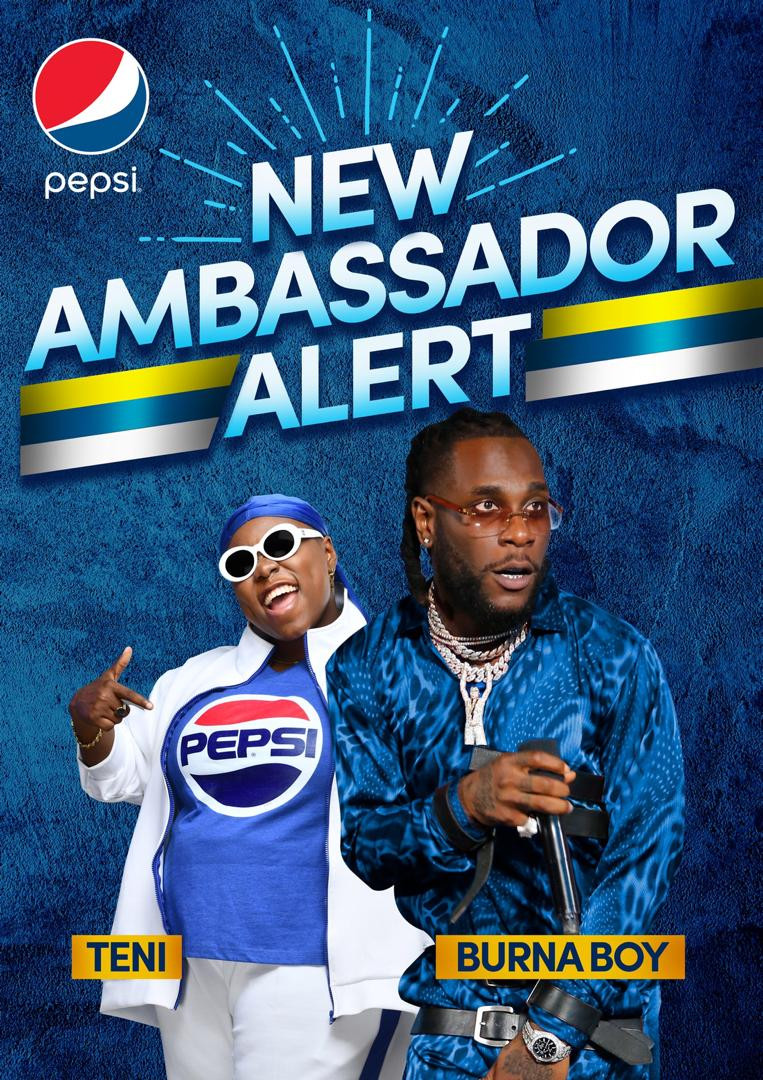 Teni and Burna Unveiled As New #PepsiBrandAmbassadors
