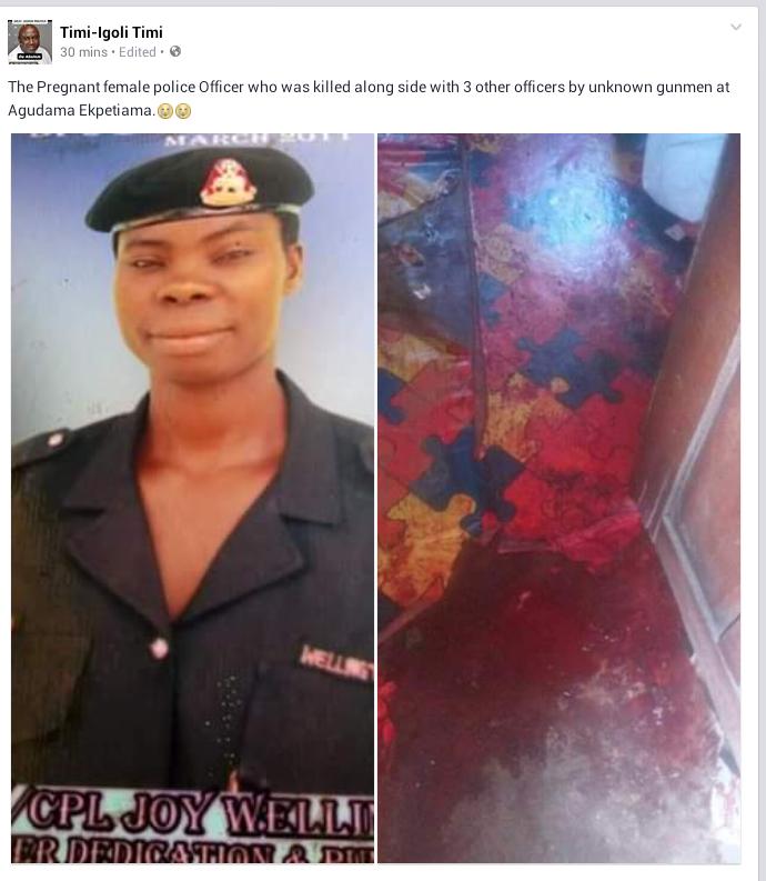 Photos: Gunmen attack police station in Yenagoa, kill 4 including pregnant policewoman, cart away riffles