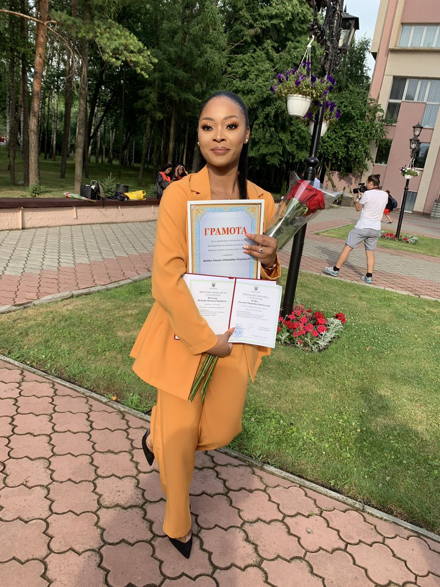 Nigerian lady graduates as medical doctor after 11 years of study