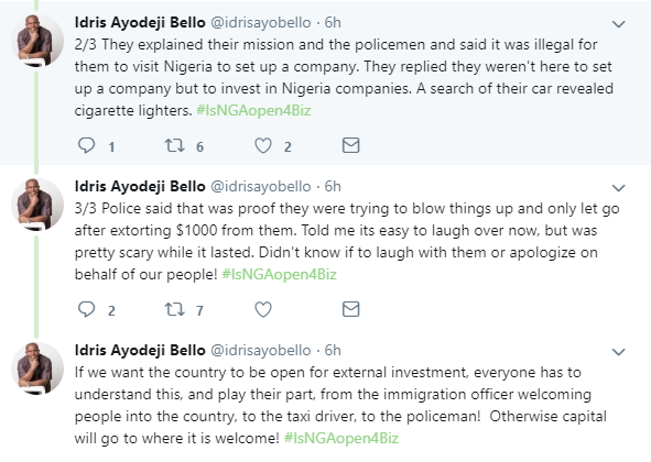 Police officers allegedly extort $1000 from foreign investors in Lagos