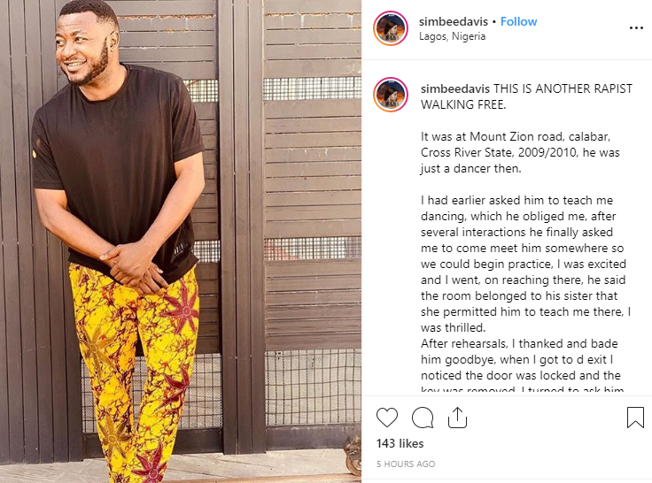 Actress Simbee Davis accuses MC Galaxy of raping her in Calabar after threatening her with a knife