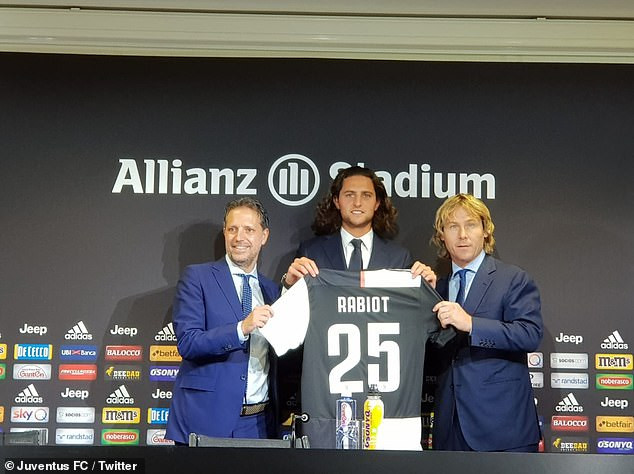 Italian champions, Juventus complete Adrien Rabiot signing on free transfer from Paris Saint-Germain