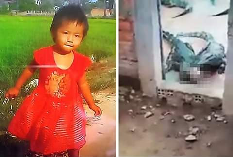 Update: Photo of the 2-year-old girl eaten by crocodiles on her family