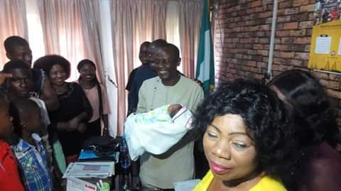 Photos: Newborn baby found abandoned at erosion site behind a Secondary School in Anambra