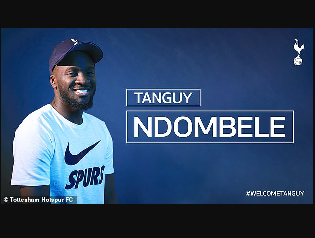Tanguy Ndombele becomes most expensive player in Tottenham club