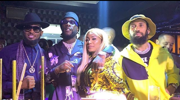 Stefflon Don in Lagos for boyfriend Burna Boy
