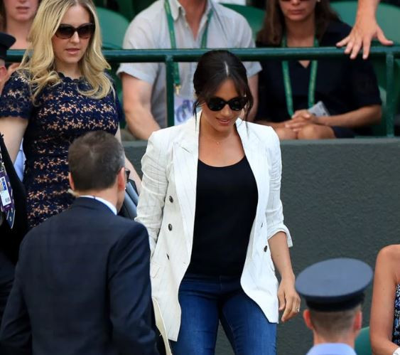 Meghan Markle makes surprise appearance at Wimbledon to support?Serena Williams (Photos)