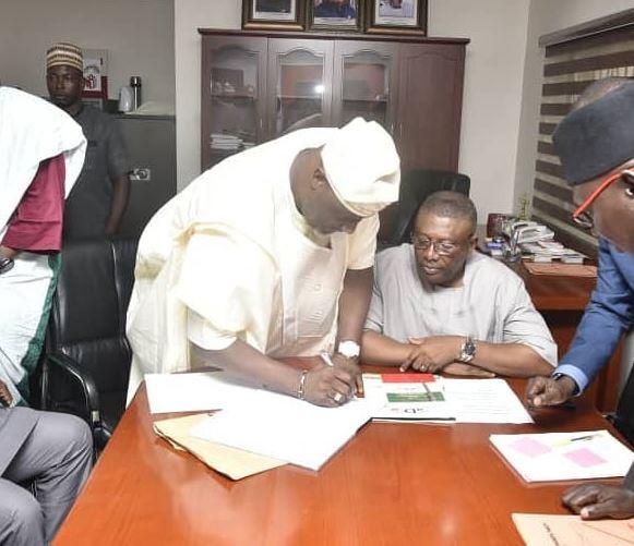Photos: Dino Melaye buys PDP nomination form for Kogi State Governorship election in November?