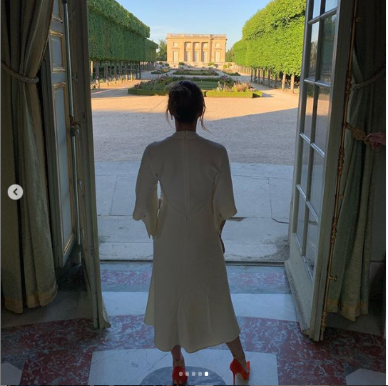 Victoria and David Beckham celebrate their 20th wedding anniversary at the Palace Of Versailles in France (Photos)