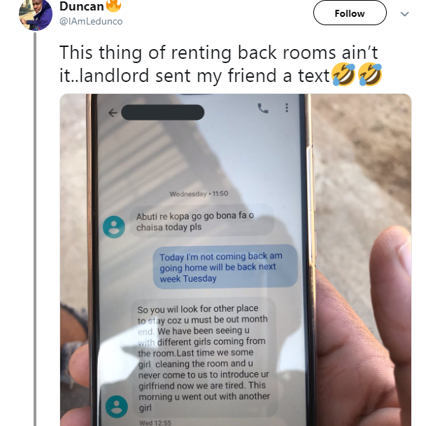 Landlord kicks out tenant for bringing different women home every night