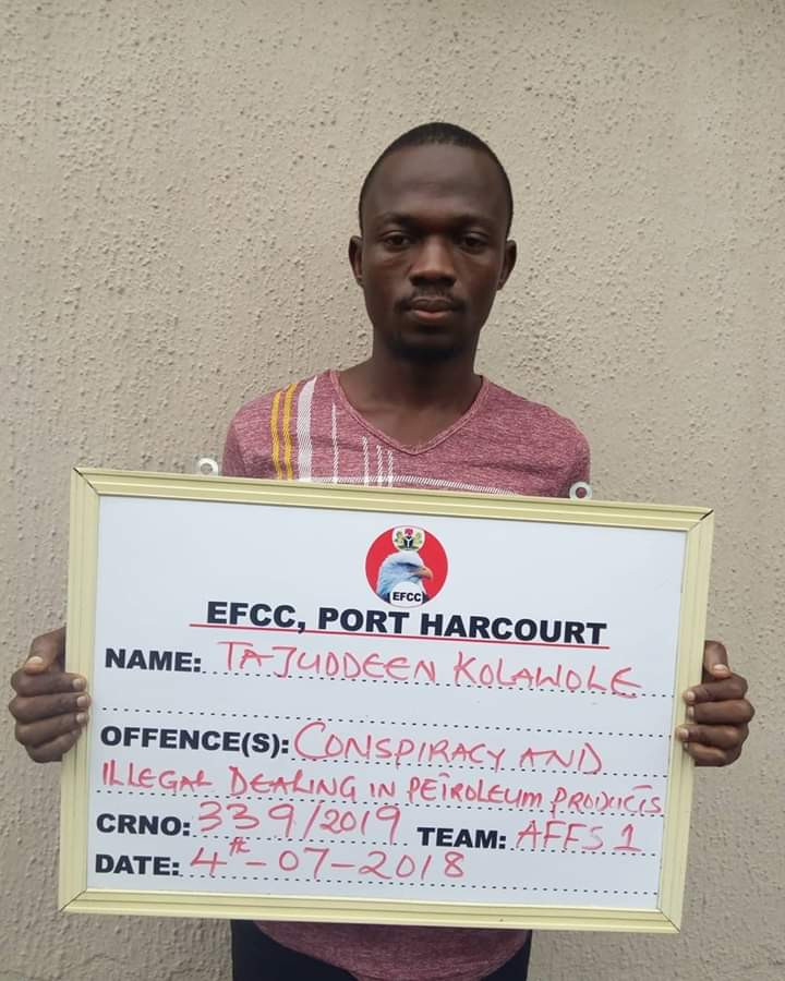 Photos: Court jails five oil thieves in Port Harcourt
