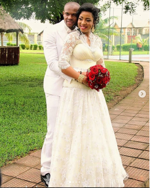 Former Super Eagles goalkeeper, Austin Ejide and wife Chitto celebrate their 6th wedding anniversary?today