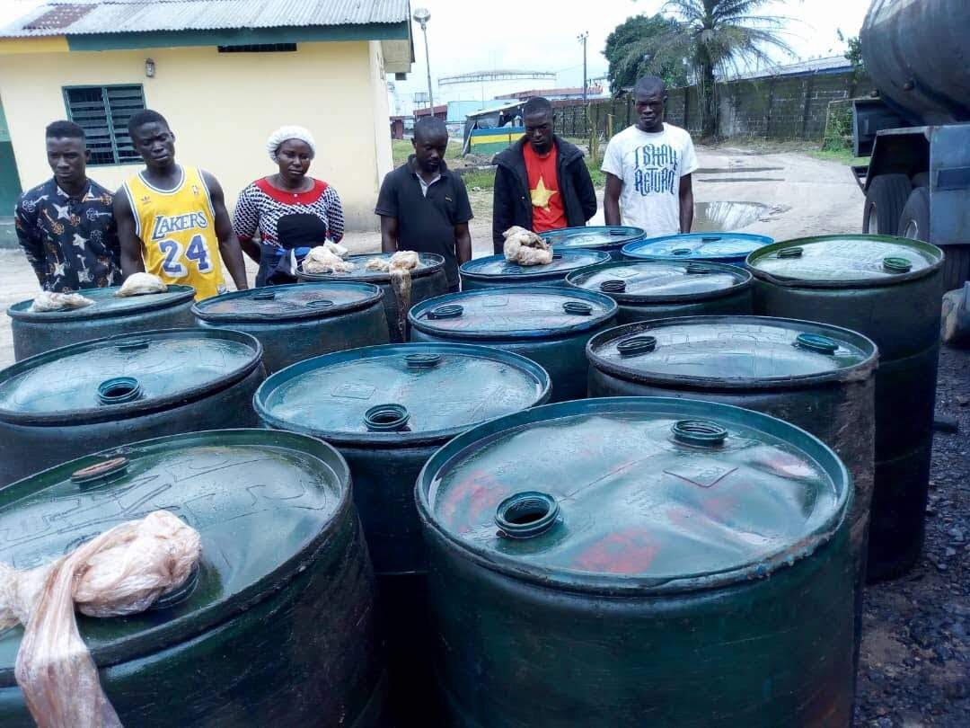 6 suspects arrested with 10,000 litres of diesel in Delta