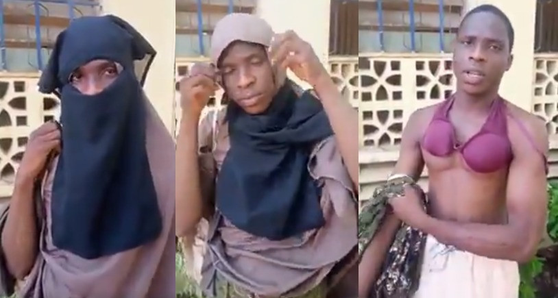 : Suspected male thief who dressed up in hijab apprehended in Kano
