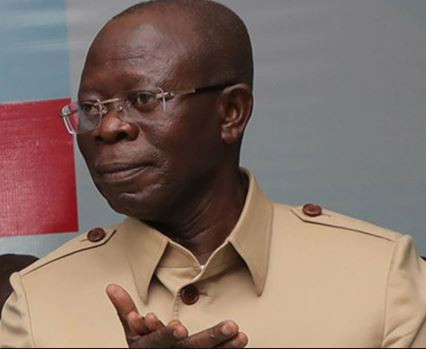 Adams Oshiomhole makes surprise appearance at presidential election tribunal in Abuja