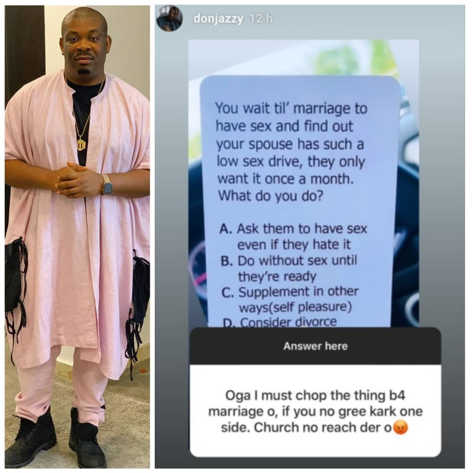 Don Jazzy insists on having sex before marriage to ascertain sexual compatibility