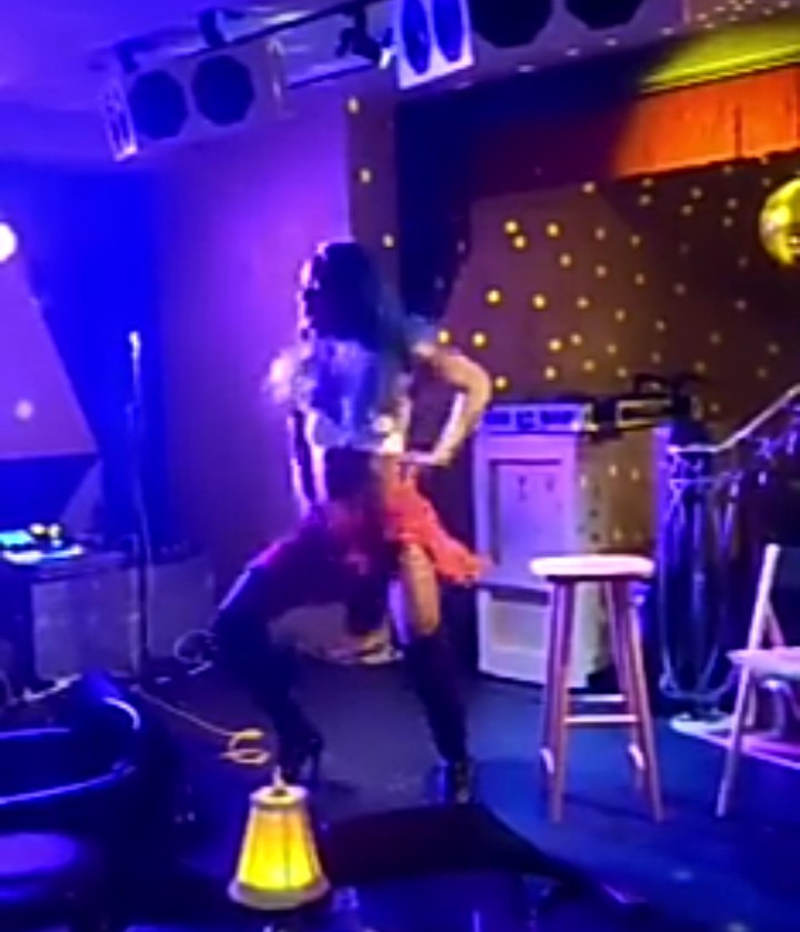 Bisi Alimi has the crowd screaming as he twerks in high-heeled boots and flirty dress (video)