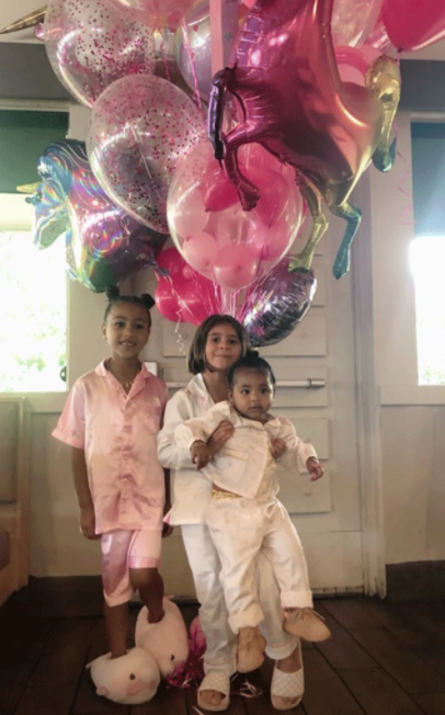 Penelope Disick, North West and friends arrive in a Stretch G-Wagon Limo for birthday bash (photos/Video)