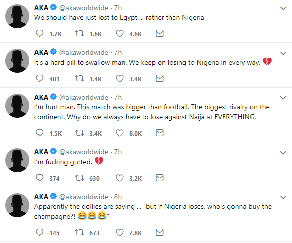AFCON AKA reacts to South Africa