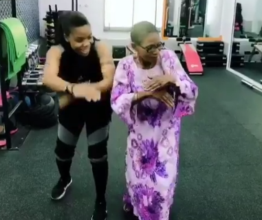 Check out this heartwarming video of dance queen, Kaffy and her 82-year-old mum showing off their dance moves