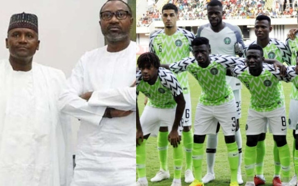 Dangote, Otedola promises Super Eagles $75k (N27m) for each goal in remaining AFCON matches