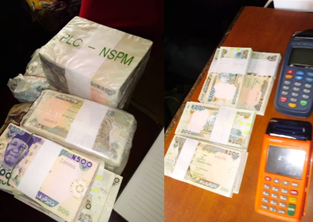 Lagos police arrest 8 Naira vendors and sellers, seize N2.4m from them (photos)