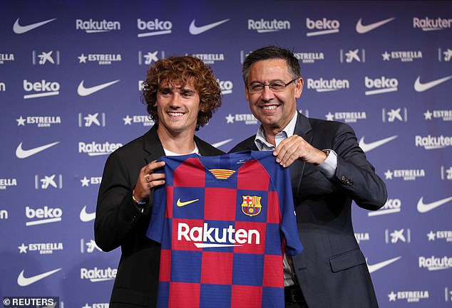 Barcelona unveil Antoine Griezmann following ?108m move from Atletico Madrid, reveal his shirt No. (Photos)