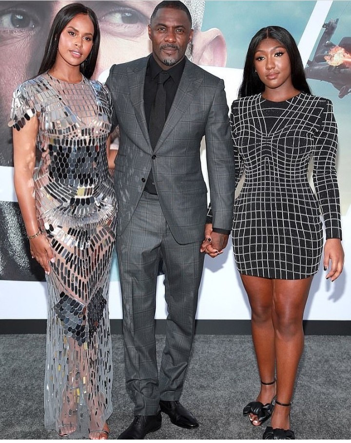 Idris Elba attends Hobbs & Shaw premiere with wife Sabrina and daughter Isan Elba