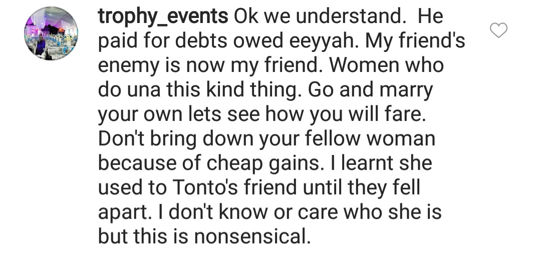 You are shameless and not worth having as a friend- Nigerians slam Tonto