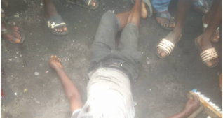 Stray bullet allegedly fired by SARS officers kill street cleaner in Lagos (graphic photo)