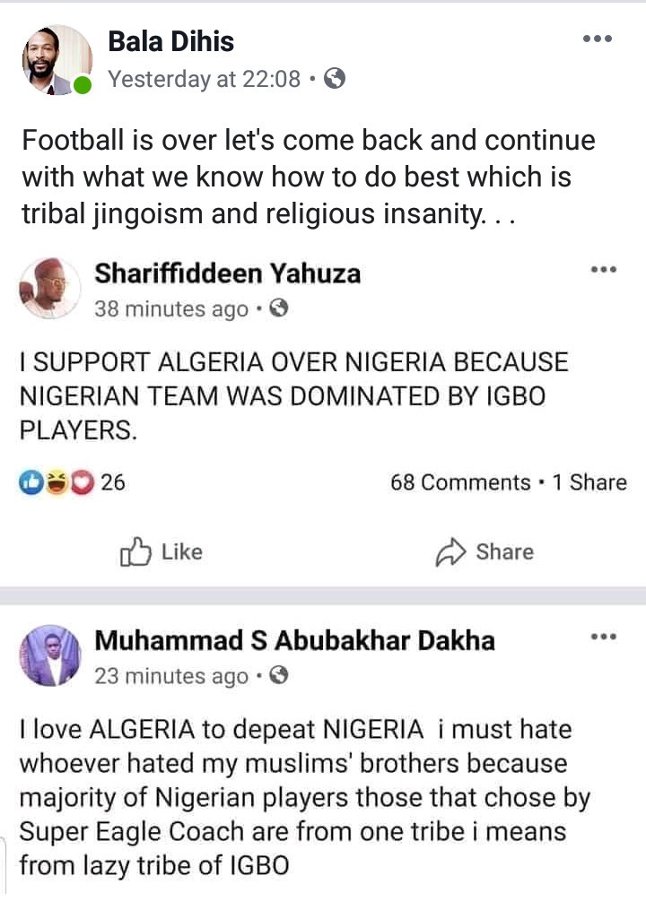 Nigerians express shock after some northerners said they